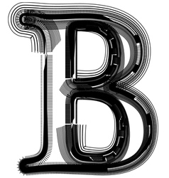 abstract font letter B vector image