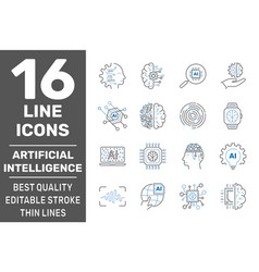 ai robot artificial intelligence icons vector image