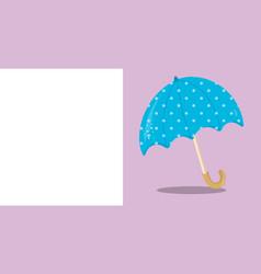 April showers blue umbrella 06 vector