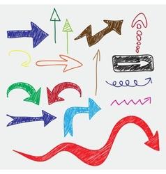 Arrows doodle vector
