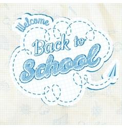 back to school calligraphic design eps 10 vector image