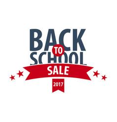back to school logo or emblem sale and best vector image
