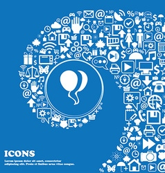 Balloon Icon sign Nice set of beautiful icons vector image