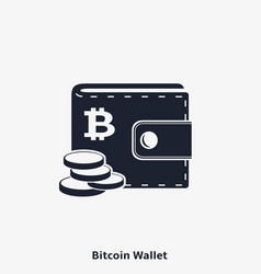 Bitcoin wallet icon vector