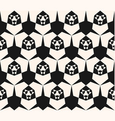 black and white modern abstract geometric pattern vector image