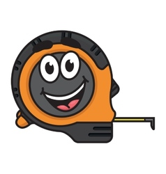 Builders tape measure with a big happy smile vector image