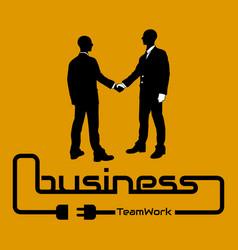 Business teamwork background flyer poster desig vector