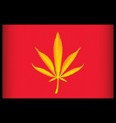 cannabis vietnam flag vector illustration vector image
