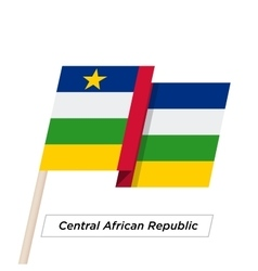Central african republic ribbon waving flag vector