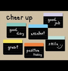 cheer up wording post it vector image