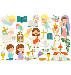Christianity clipart bundle vector