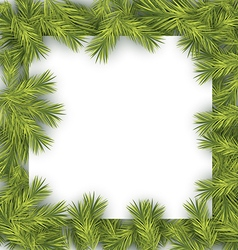 Christmas Fir Tree Frame vector image