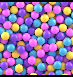 Colorful candy sweet gumballs 3d background vector