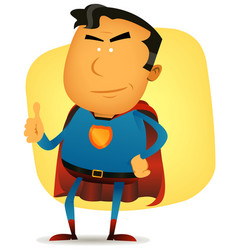 Comic superman character vector