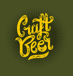 craft beer script lettering logo graphic vector image