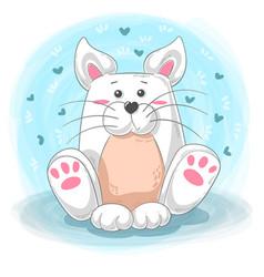 Cute cat cartoon - teddy vector