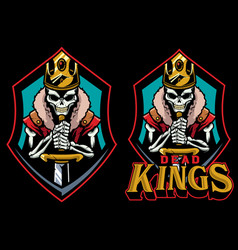 dead kings mascot vector image