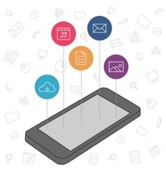 Demonstration screen mobile phone vector