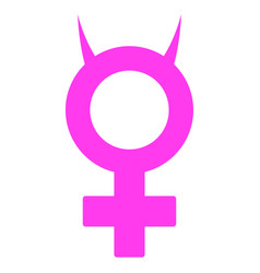 Devil female symbol flat icon vector