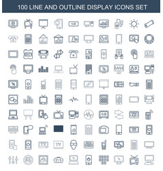 display icons vector image