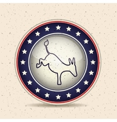 Donkey of vote inside button design vector image