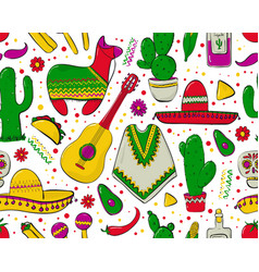 feesta and latin american festivals seamless vector image