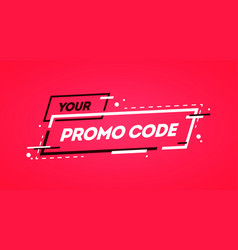 flat promo code coupon banner design vector image