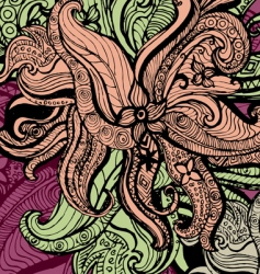 floral ink sketch vector image