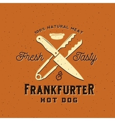 Frankfurter Hot Dog Vintage Card Poster or vector image