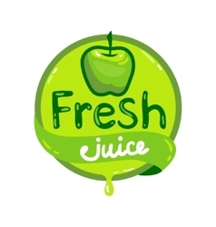 fresh juice emblem 5 vector image