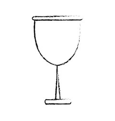 Glass cup beverage wine glassware sketch vector