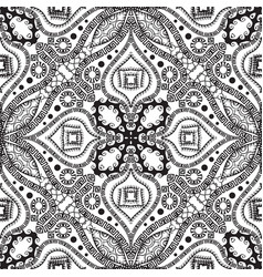 greek ethnic style black and white seamless vector image