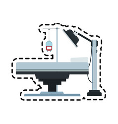 Gurney or hospital bed icon image vector