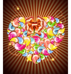 Heart splash and light vector image