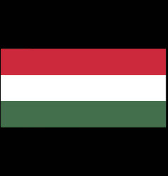 Hungary flag isolated on backg vector