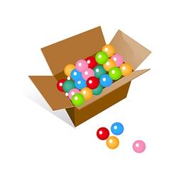 Icon balls in the box vector