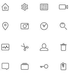 icons and buttons for your design vector image