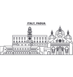Italy padua line skyline vector
