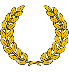 laurel wreath symbol triumph vector image
