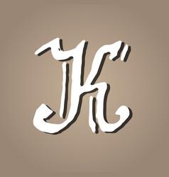 letter k vintage grunge font gothic style letter vector image