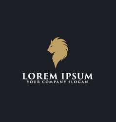 luxury lion logo design concept template vector image