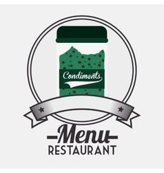 Menu restaurant ingredient vector