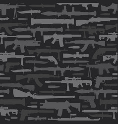 military weapons seamless pattern vector image