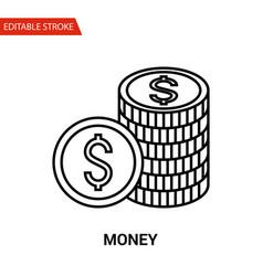 money icon thin line vector image