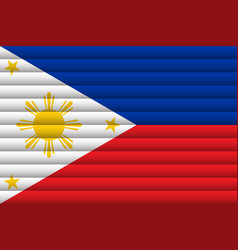National flag philippines for independence day vector