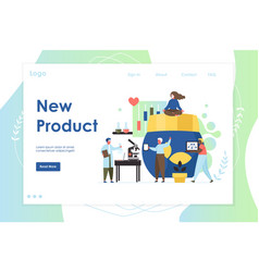 new product website landing page design vector image