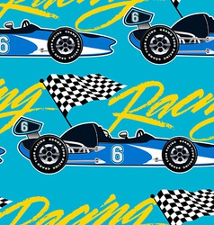 Open wheel racing car seamless pattern vector image