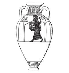 Panathenaic vase had the distinctive form of vector