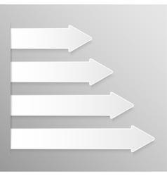 Paper Banner Mockup Arrow pointer vector image