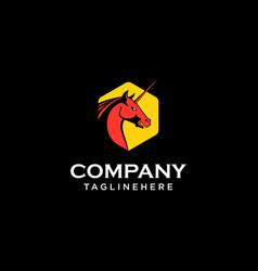 pegasus logo template vector image
